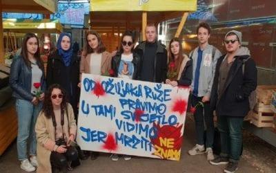 "Mirna šetnja pod nazivom ""Mladi protiv fašizma"""