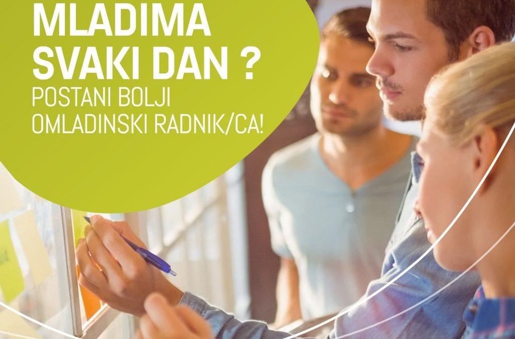 Javni poziv za obuku stručnih saradnika/ca za rad s mladima